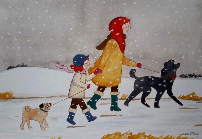 paula nasmith a snowy walk