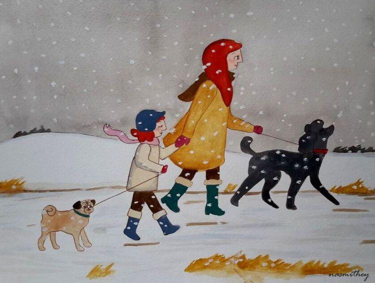 A Snowy Walk by Paula Nasmith