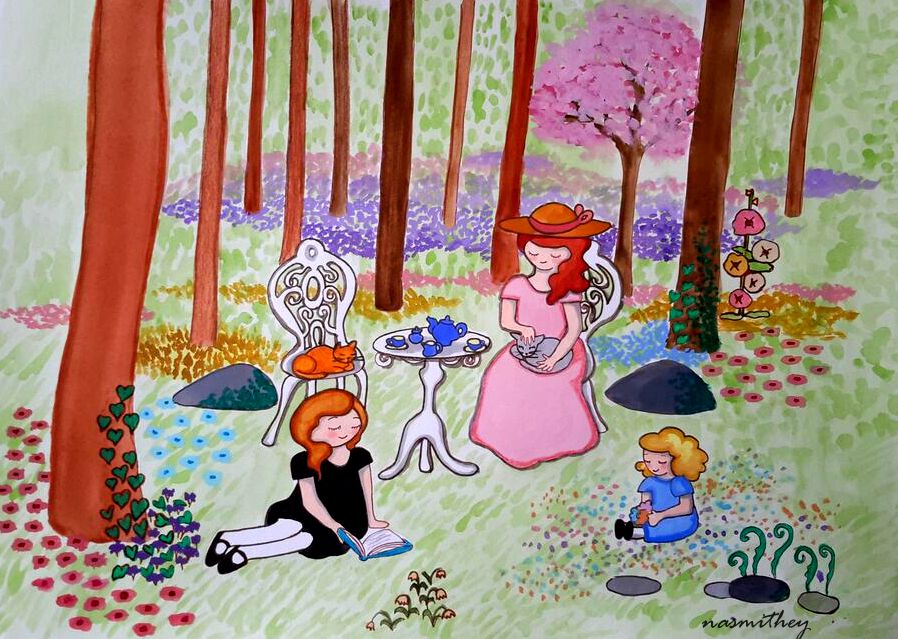 tea in the woods by paula nasmith