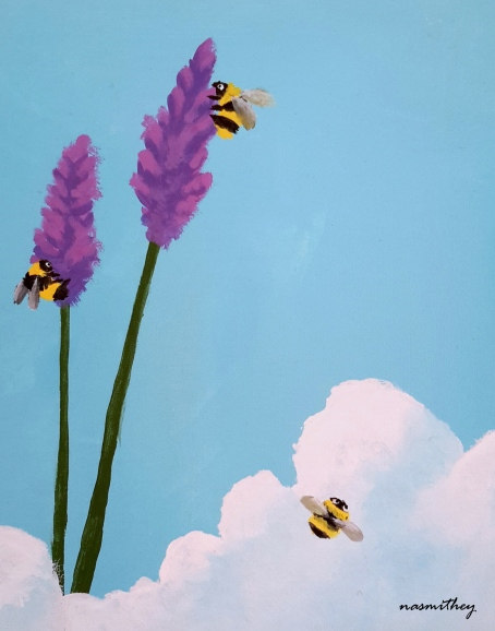 Nasmith_Paula_Busy Bees_Acrylic on Canvas_25cmx20cm_2017