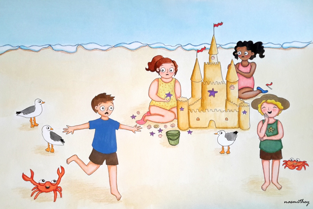 at the beach by paula nasmith