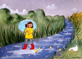 Rainy Weather by Paula Nasmith