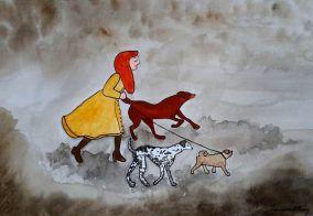 Cloudy Walk by Paula Nasmith