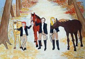Horses by Paula Nasmith