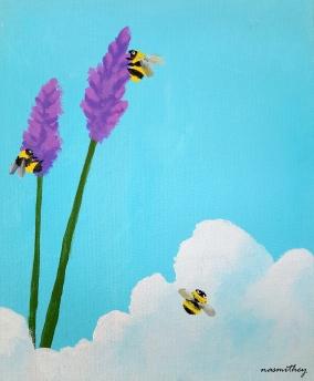 Lavender Bees - Paula Nasmith