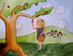 Picking Apples by Paula Nasmith - Copy