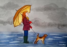 Rainy Walk by Paula Nasmith