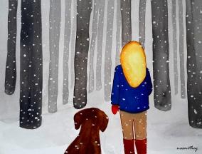 Snowy Forest by Paula Nasmith - Copy