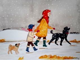 Snowy Walk by Paula Nasmith - Copy
